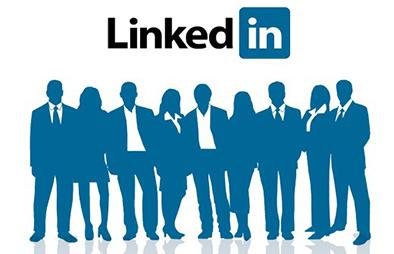 "A group of professionals with ""Linkedin"""